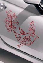 Stickers voiture oiseau