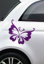 Stickers voiture papillon