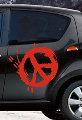 Stickers voiture peace and love
