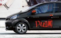 Stickers voiture punk