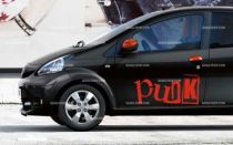 Stickers voiture punk