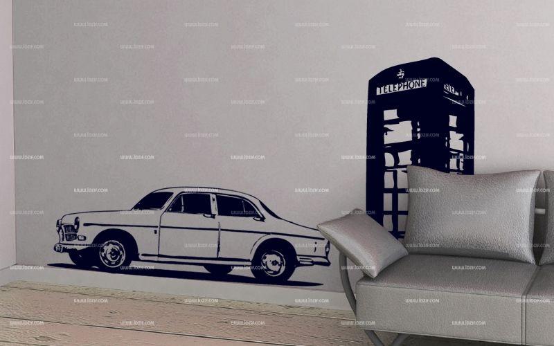 Stickers voiture rétro.