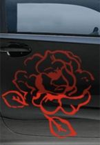 Stickers voiture rose
