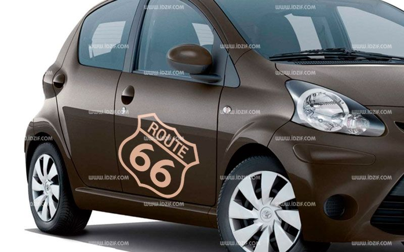 Stickers voiture route 66