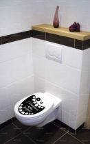 Stickers WC : J\'adore rester propre