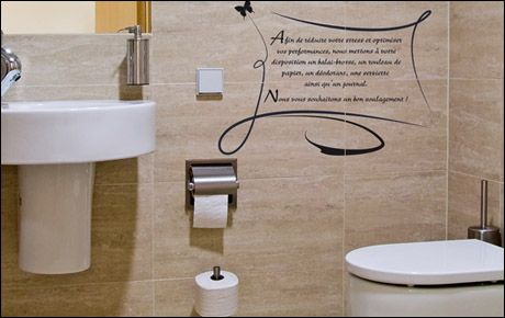 D coration wc stickers - Decor de toilettes wc ...