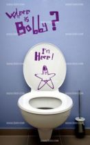 Stickers wc �toile
