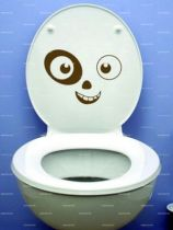 Stickers WC fantôme.