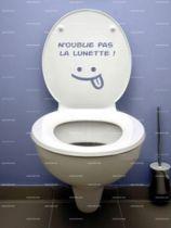 Stickers WC n\'oublie pas la lunette