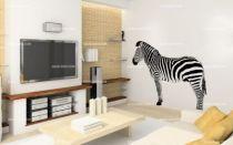 stickers muraux zebre