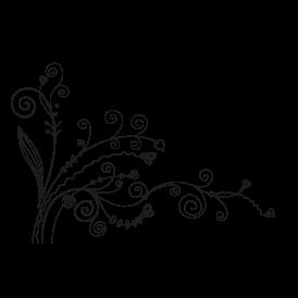 Le stickers zig zag floral vous permettra de décorer l\'intérieur avec un stickers nature noir