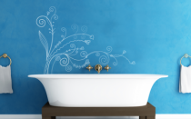 Le stickers zig zag floral pour un décor mural sur le thème de la nature